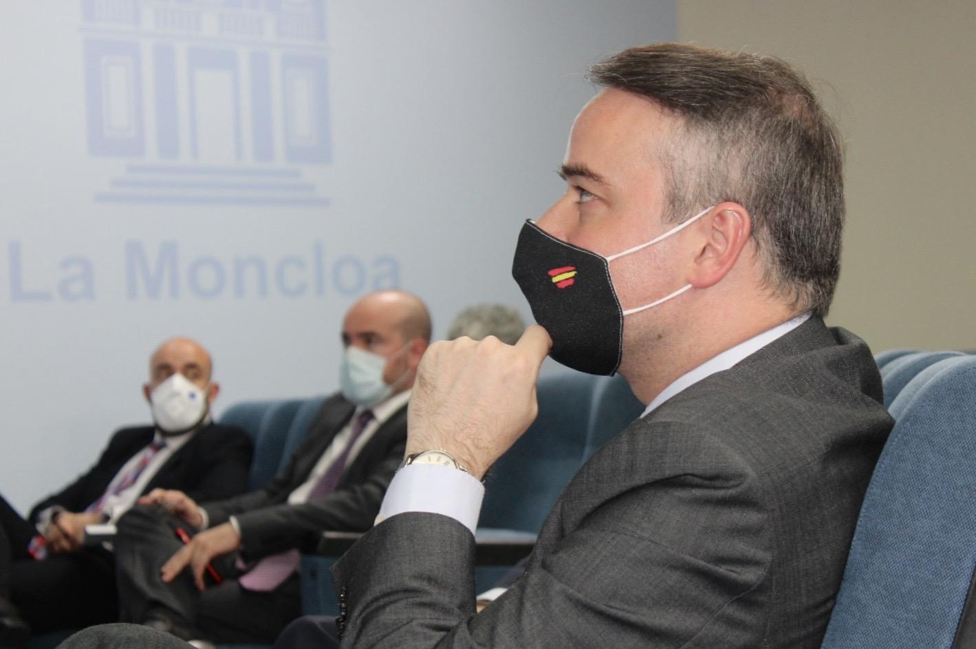 Iván Redondo, en el Palacio de La Moncloa, durante una comparecencia de Pedro Sánchez. Foto: Joan Guirado