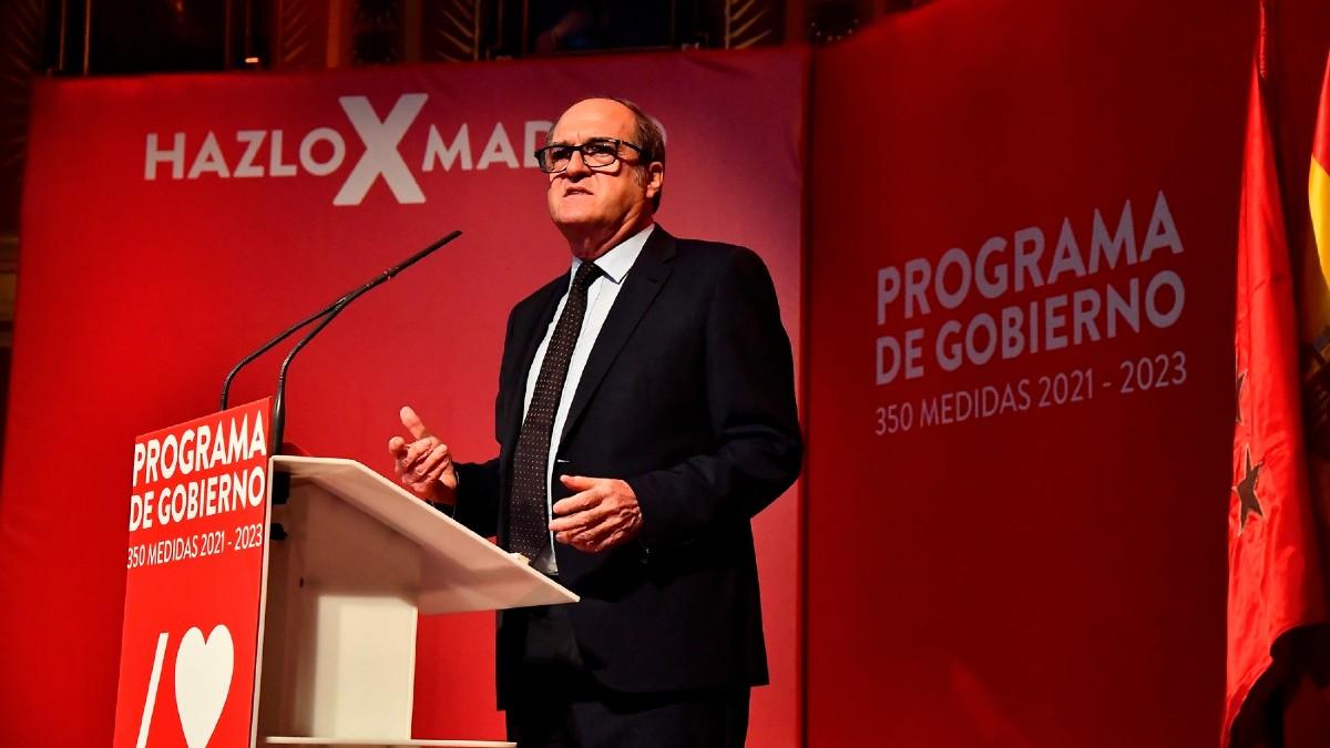 El candidato del PSOE a las elecciones de la Comunidad de Madrid, Ángel Gabilondo, presentando su programa electoral. (Foto: Efe)