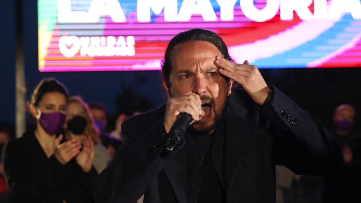 Pablo Iglesias en un acto de la pasada campaña electoral del 4M. (Foto: Europa Press)