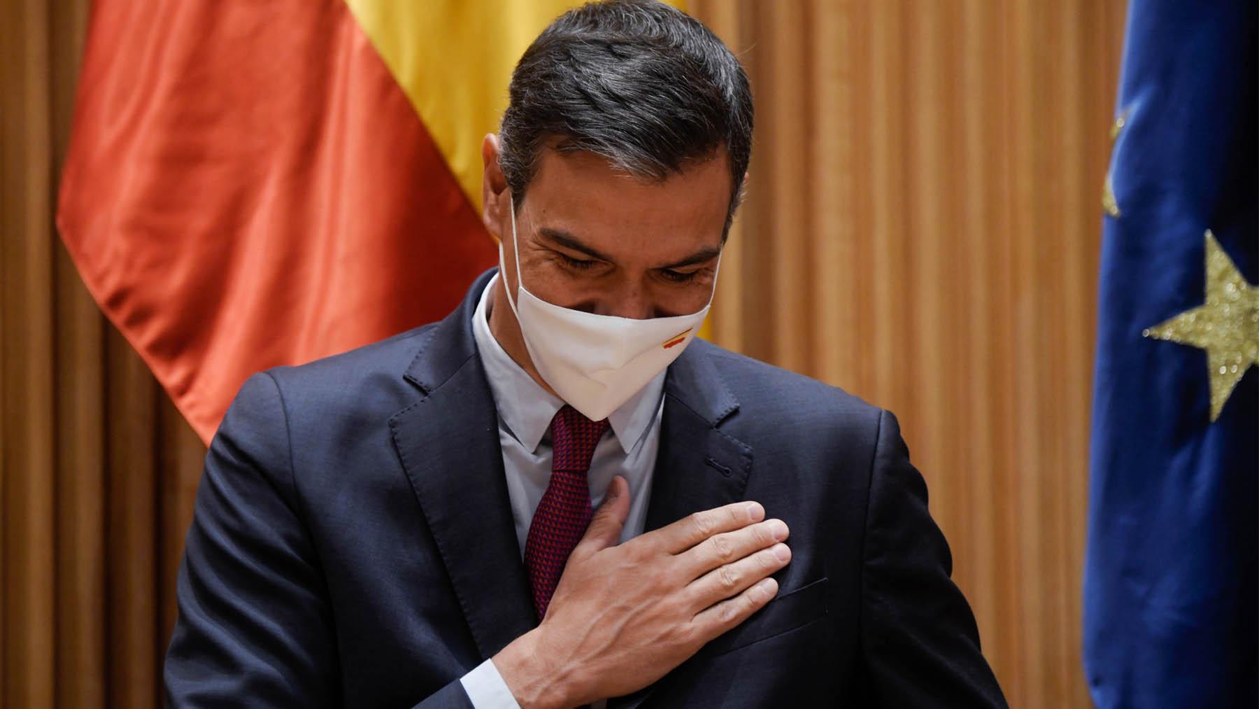 El presidente del Gobierno, Pedro Sánchez, en el Congreso. (Foto: EP)
